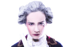 Gentleman. Young woman in gallant cavalier image Royalty Free Stock Photography