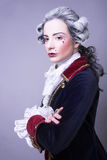 Gentleman. Young woman in gallant cavalier image Stock Photo