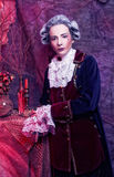 Gentleman. Young woman in gallant cavalier image Royalty Free Stock Photo