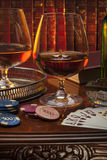 Gentlemans俱乐部-科涅克白兰地-白兰地酒 库存照片