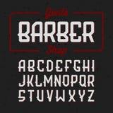 Gentlemans Barber Shop vintage style font Stock Photo