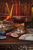Gentlemans klubba - Cognac - konjak Arkivfoton