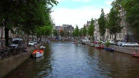 Gentlemen canal in Amsterdam called Herengracht City of Amsterdam stock video