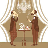 Gentlemen in club.Vector illustration Stock Photos