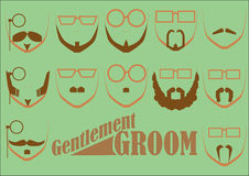 Gentlemen GROOM. This is a beard, mustache and eye glasses of a gentlemen. this is a man grooming Stock Photography