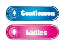 Gentlemen and ladies Royalty Free Stock Image
