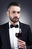 Gentlemen prefer wine. Royalty Free Stock Photos