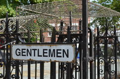Gentlemen public toilet sign. Royalty Free Stock Photos