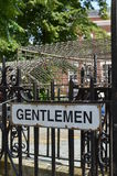 Gentlemen public toilet sign. Stock Image