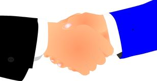 Gentlemen's agreement, handshake.. Stock Photo