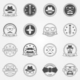 Gentlemen's club vector emblems and logos Royalty Free Stock Photography