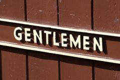 Gentlemen Sign Royalty Free Stock Photography