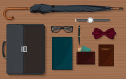 Gentlemen stuff design elements collection set. Stock Photo