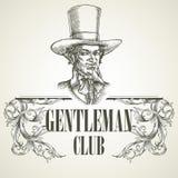 Gentlemens club. Vintage vector illustration Stock Image