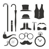 Gentlemens stuff design elements Stock Photos