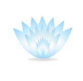 Gently blue flower on a white background Stock Image