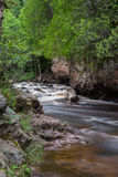 Gently Cascading Stream. This is a stream at Cascade River State Park in Minnesota Royalty Free Stock Photo
