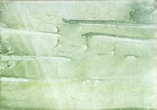 Gently green stained wash drawing texture Stock Image
