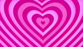 Gently pink heart shape is looped up. Love and Valentines Day concept. Seamless loop. CG stock video