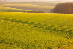 Gently rolling hills farmland of Germany Europe Stock Photos