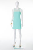 Gently turquoise dress on elegant mannequin. Stock Images