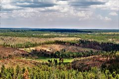 Gentry Outlook, Apache Sitgreaves National Forest, Arizona, United States. Scenic landscape view of Gentry Outlook, located in Apache Sitgreaves National Forest Stock Image