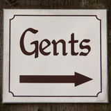Gents sign Stock Photo