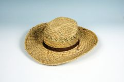 Gents straw sunhat. Stock Photo