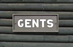 Gents toalety znak Obrazy Royalty Free