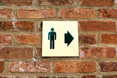 Gents Toilet Sign Stock Photography