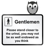 Gents Urinal Stock Photo