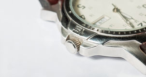 Gents wristwatch detail Stock Photo