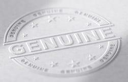 Genuíno, certificado da autenticidade Autenticação do documento ilustração stock
