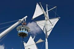 genua Das BIGO, panoramischer Aufzug stockbilder