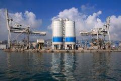 Genua-Hafen stockfoto