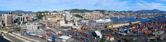 Genua-Hafen Stockbilder