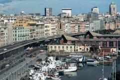 Genua, Italien Boote und Weg, Hafen Lizenzfreies Stockbild