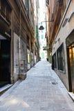 Genua, Italien Die historische Mitte lizenzfreie stockfotografie