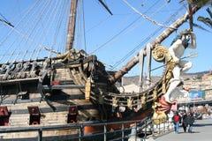 Genua, Italien 6. Juli 2014 Galeon Neptun lizenzfreie stockfotos