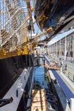 Genua Italien: 10 Juni 2016; Skepp för italiensk marin, Amerigo Vespucci Arkivbild