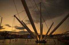 GENUA, ITALIEN, AM 27. NOVEMBER 2018 - Ansicht von 'Porto Antico ', altes Hafengebiet von Genua, Italien stockbild