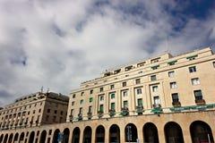 Genua, Italien 04/05/2019 Paläste des faschistischen Zeitraums stockbild