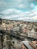Genua, Italy_-Stadsweergeven 2 stock afbeeldingen