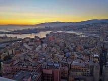 Genua-Landschaft von Terrazza Colombo lizenzfreie stockfotografie