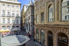 Genua liguria, Italien, Europa, fyrkantig banchi royaltyfri fotografi