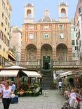 Genua Liguria, Italien, S Pietro i den Banchi kyrkan royaltyfri bild