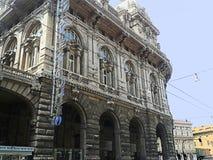 Genua, Ligurien, Italien, Börsegebäude, seitlich lizenzfreie stockfotos