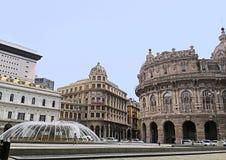 Genua, Ligurien, Italien, Quadrat De Ferrari lizenzfreie stockbilder