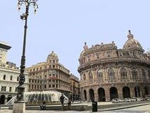 Genua, Ligurien, Italien, Quadrat De Ferrari, version2 stockfoto
