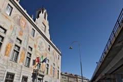 genua Palast von San Giorgio und die Hochstra?e stockfoto
